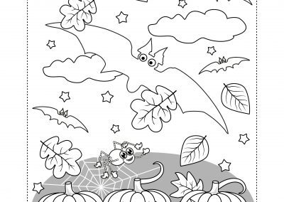 Fall is in the Air coloring sheet